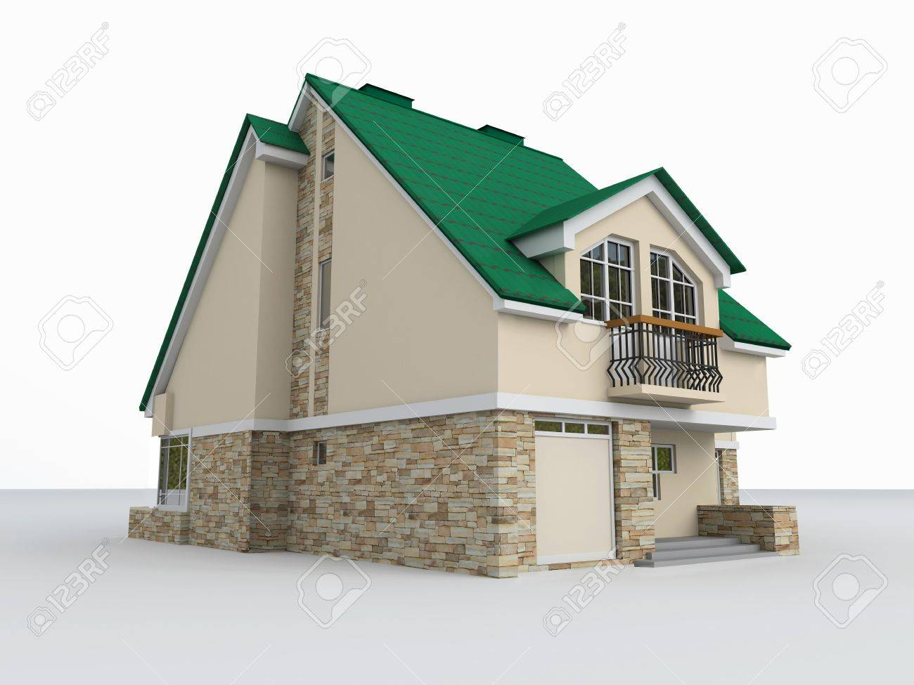 Estructura Construcción Arquitectura Moderna Ilustración Modelo Casa Oficina