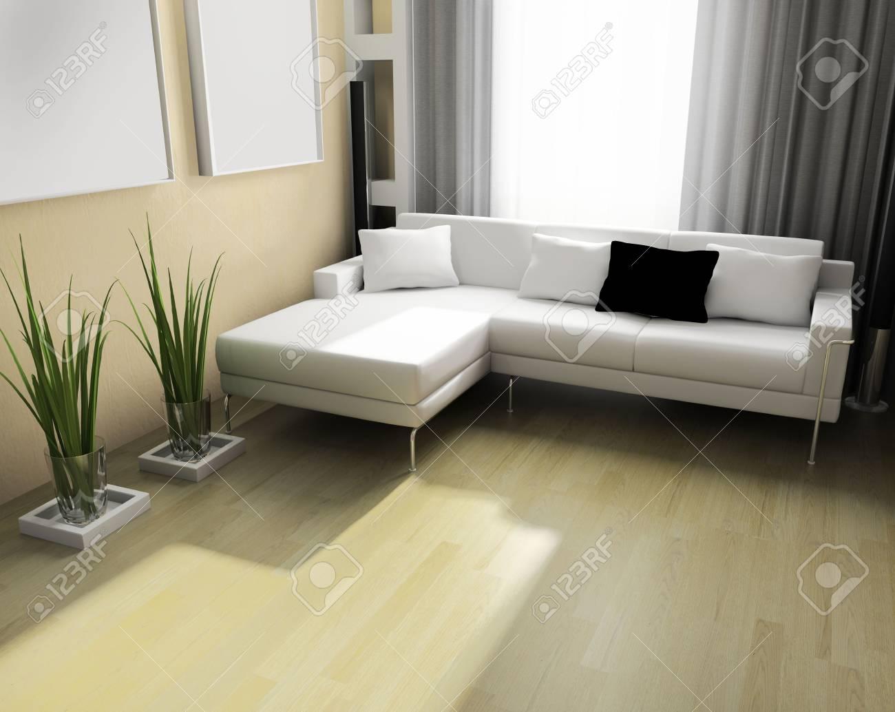 Lumière Chambre Moderne 3 D Design Exclusif Banque D\'Images Et ...