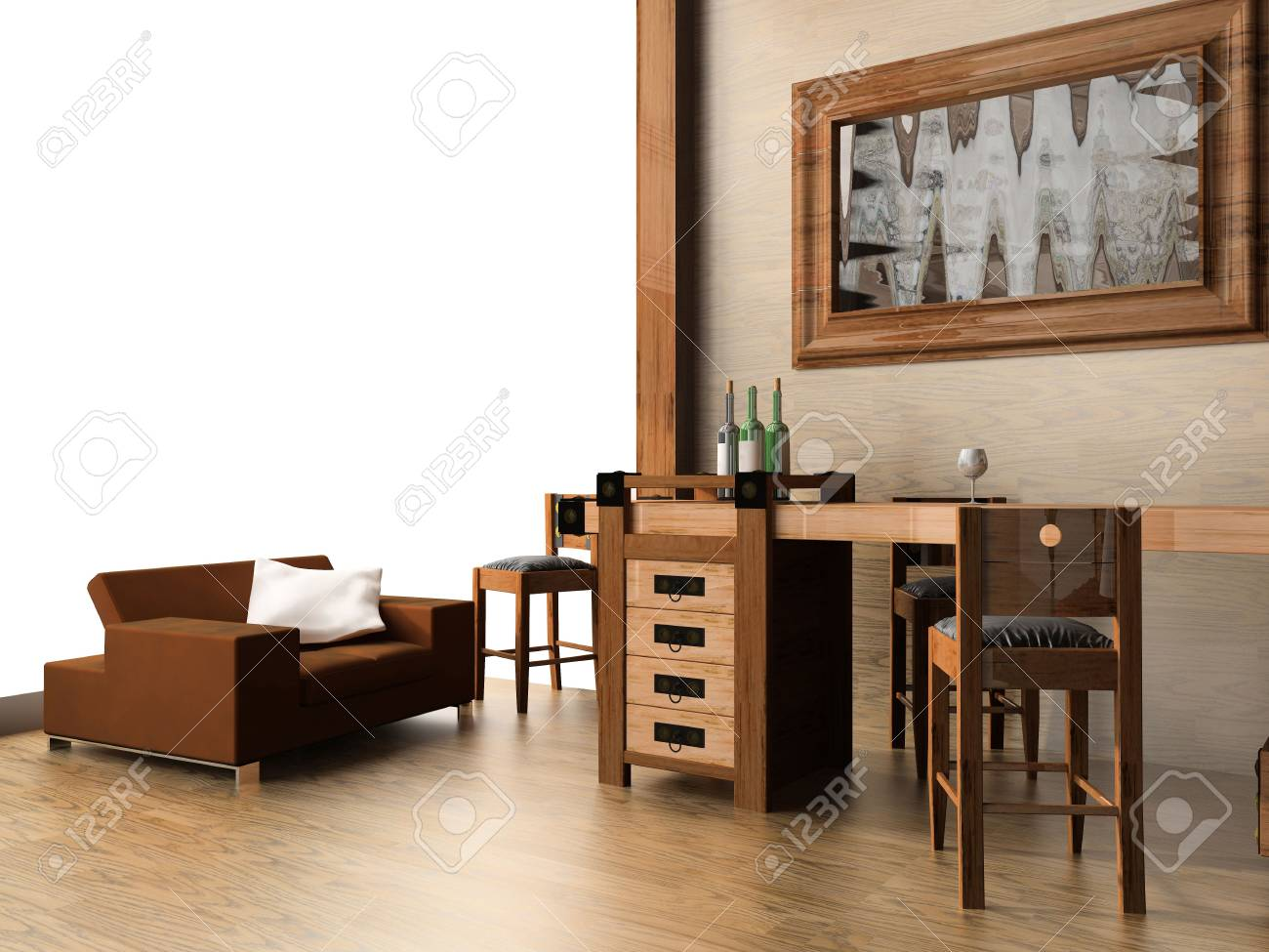 Bar in a hall of hotel Stock Photo - 3703484
