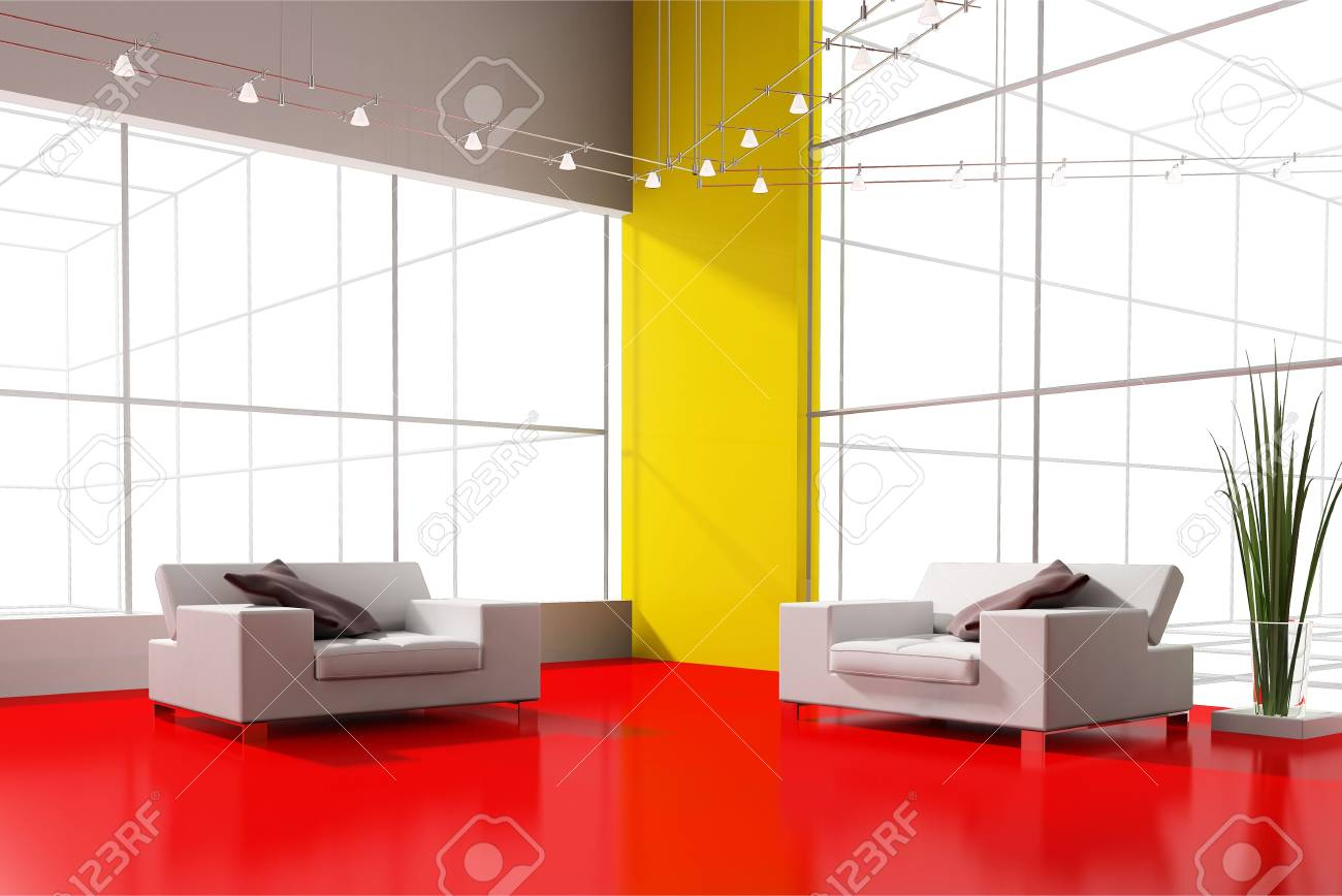 modern interior place for rest 3d image Stock Photo - 6116259