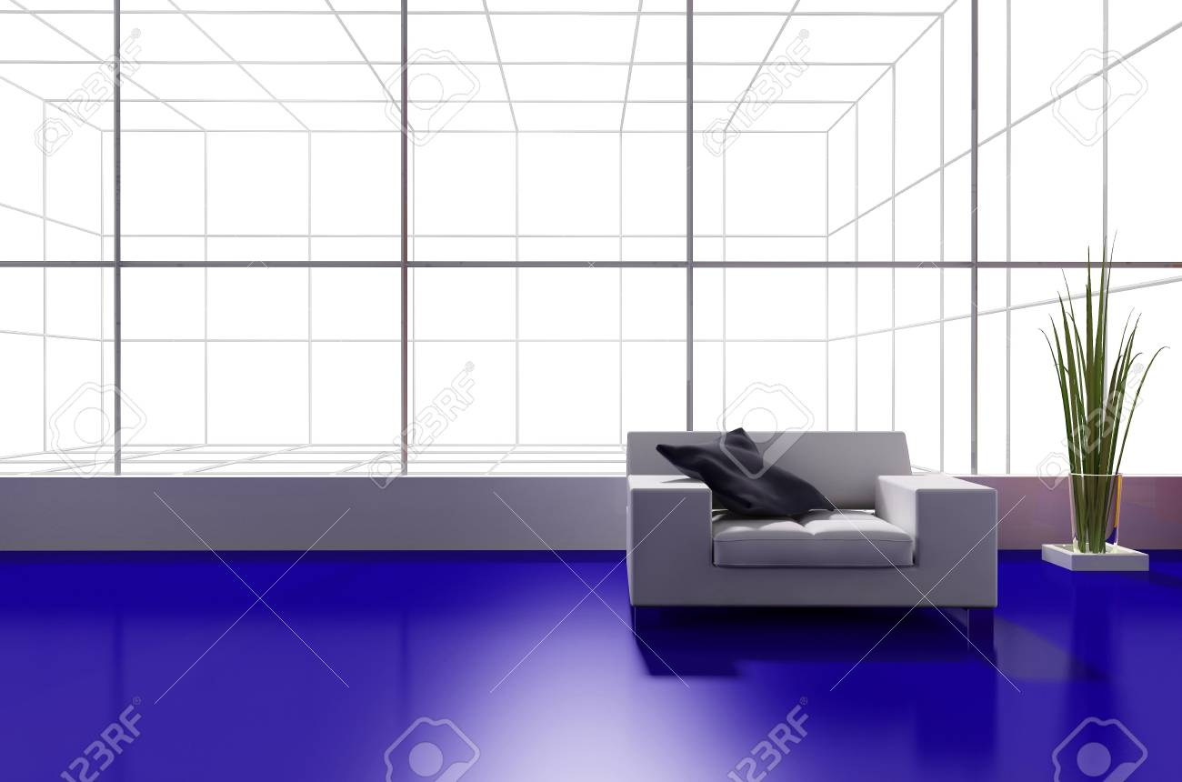 modern interior place for rest 3d image Stock Photo - 6323596