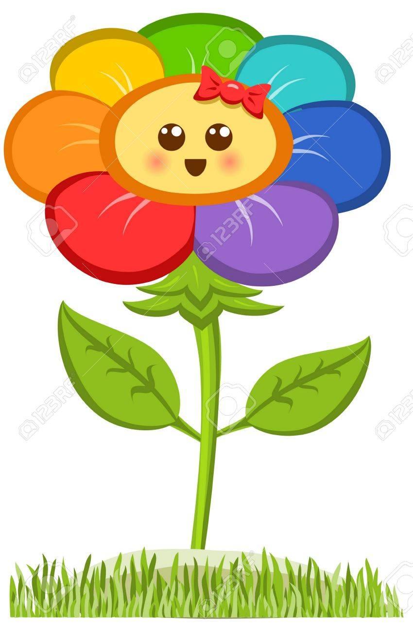 Cartoon smiling flower happy daisy isolated on white royalty free cartoon smiling flower happy daisy isolated on white stock vector 67676355 izmirmasajfo