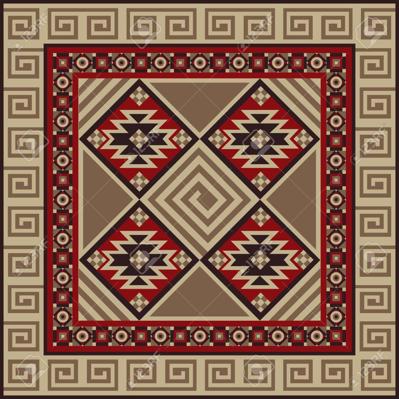 navajo art boho seamless pattern ethnic geometric print aztec