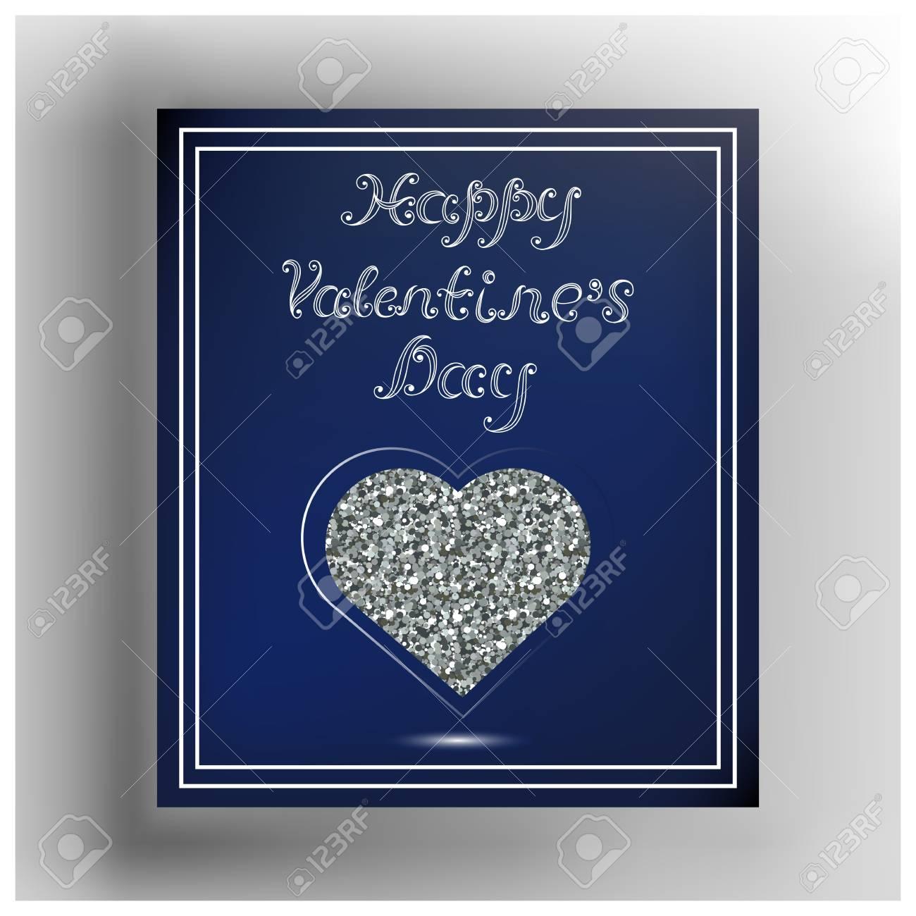 Valentine Herzen Im Rahmen. Geeignet Für Die Einladung, Flyer ...