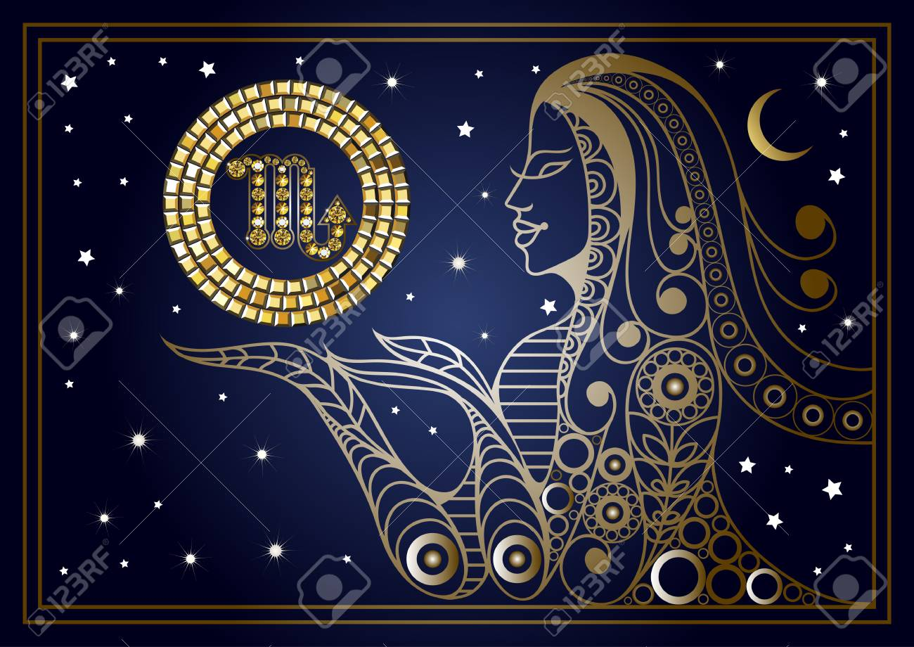 Decorative zodiac sign Scorpio  Horoscope and astrology  (astronomy)-symbol
