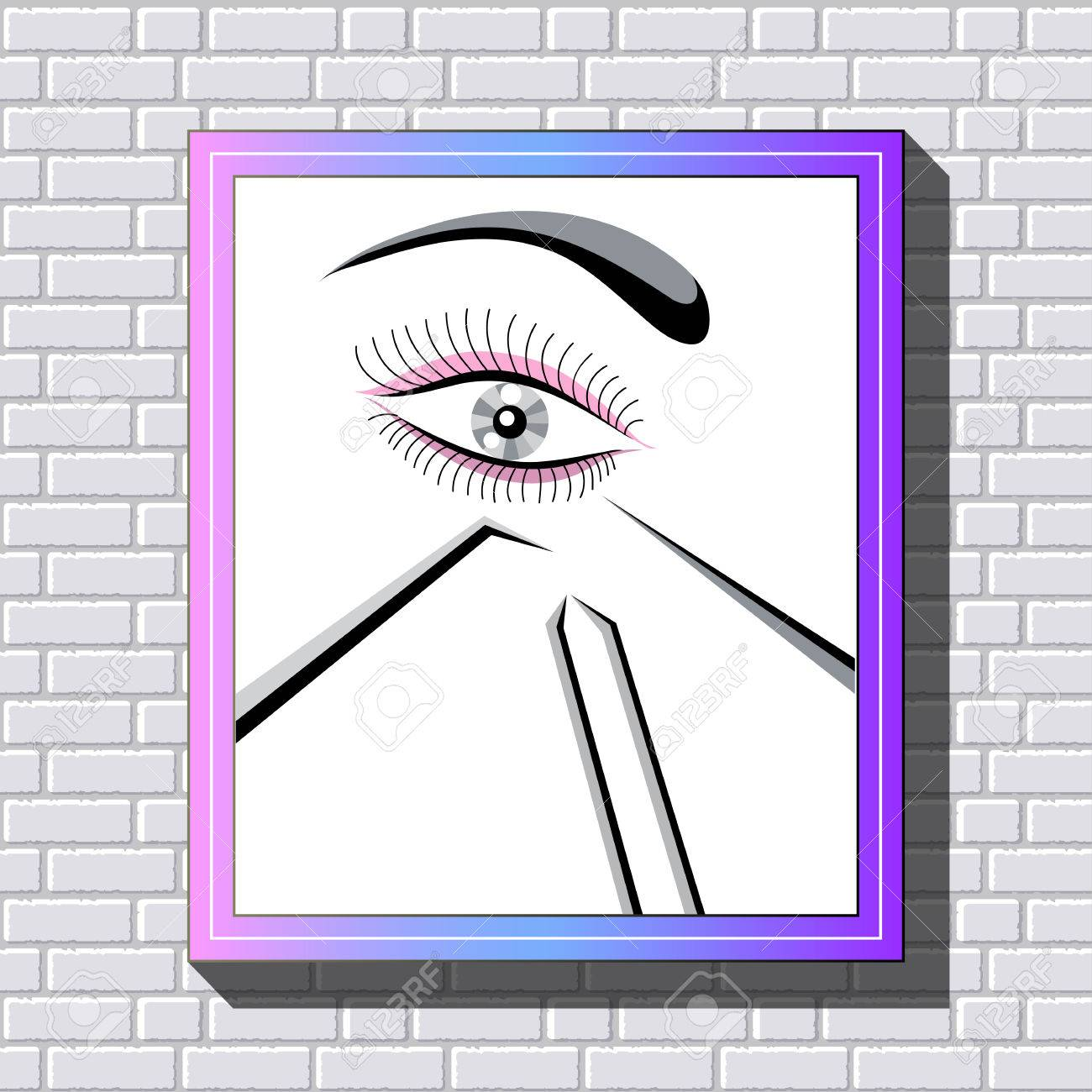 Branding for salon eyelash extension, shop cosmetic products,