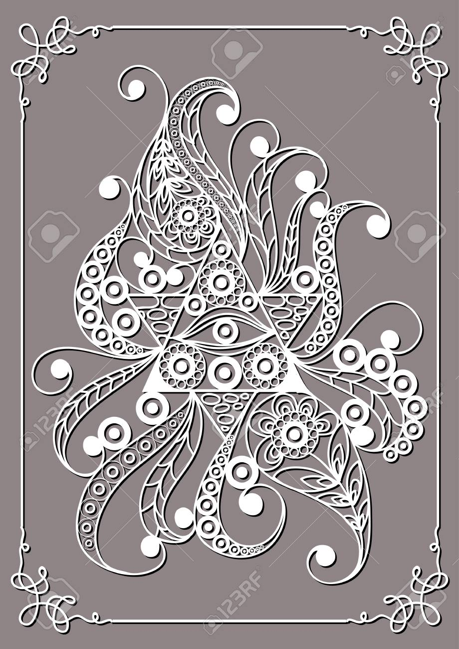 Graphic Abstract Design With Occult Symbol Masonic Freemasonic