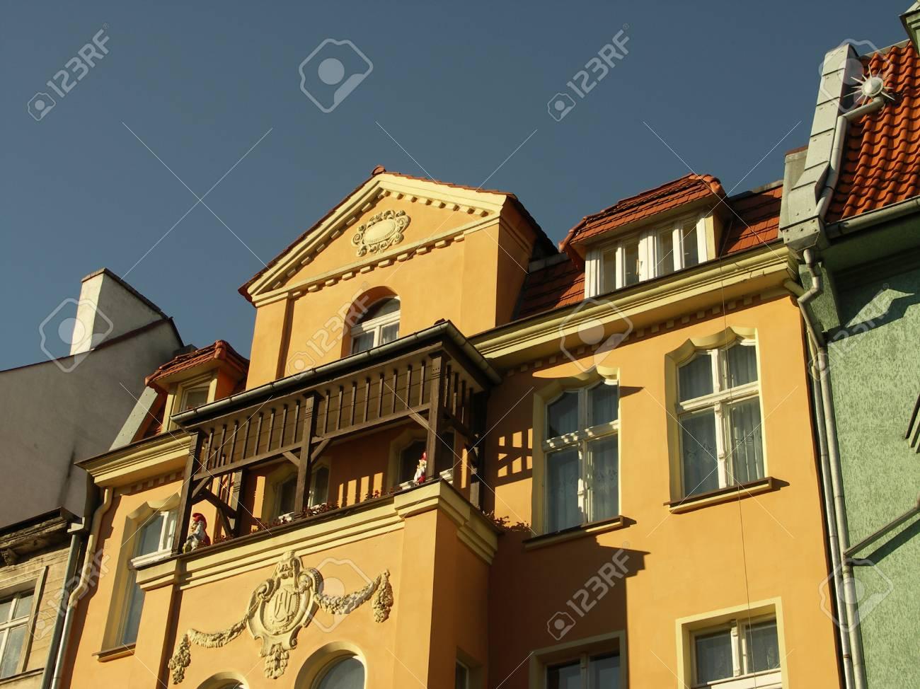 Colour historic tenements in Poland Stock Photo - 1693134
