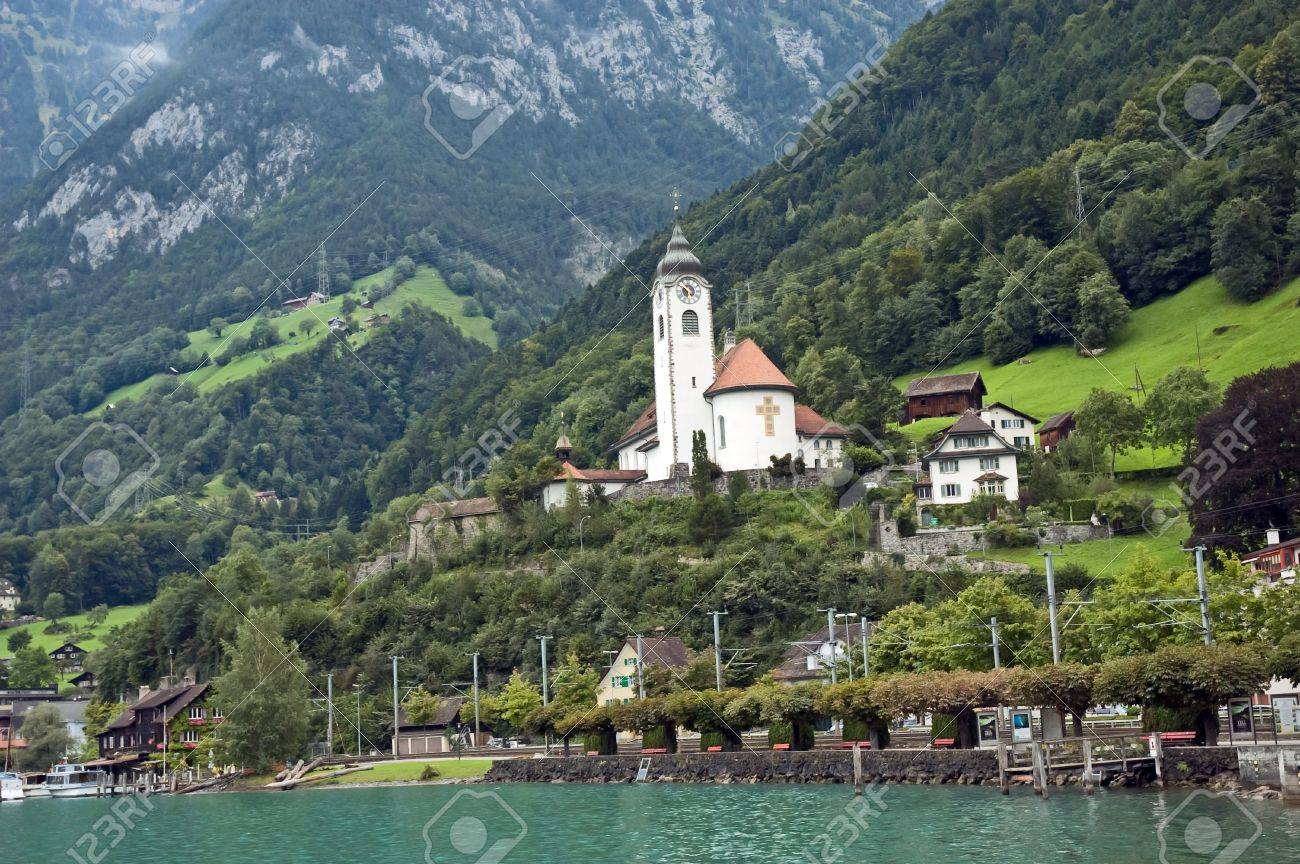 Church in mountains alps Stock Photo - 3842230