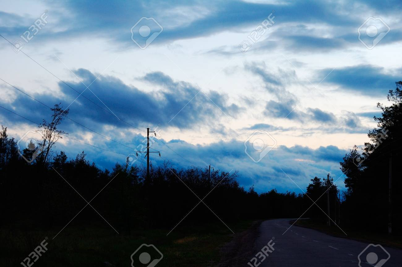 beautiful clouds are in an evening calling sun Stock Photo - 4909005