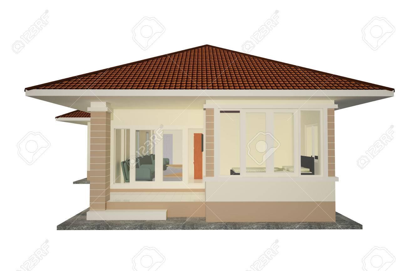 Dessin 3d Maison Individuelle Thaïlande Banque D Images Et Photos