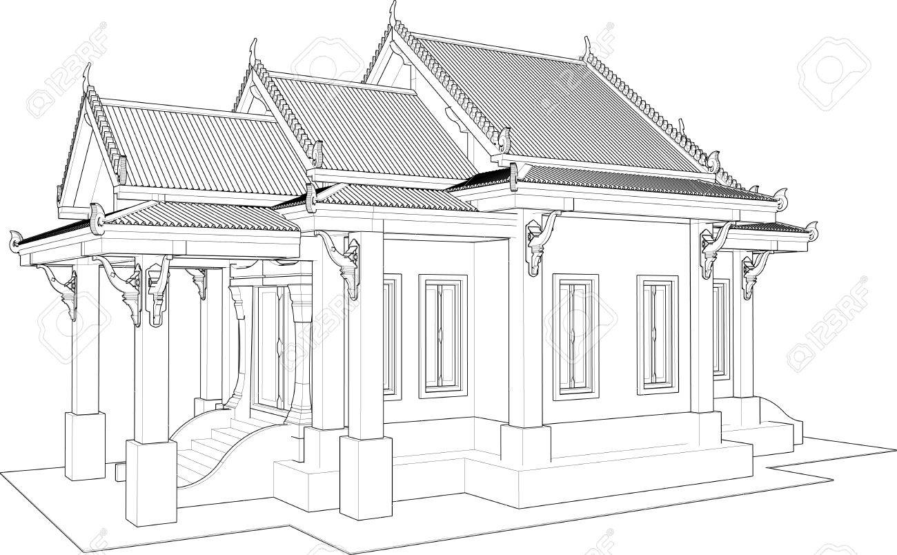 La Conception Architecturale Le Petit Temple En Thaïlande