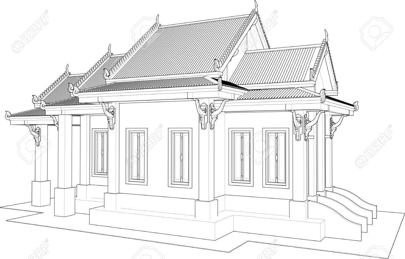 Conception Architecturale Le Petit Temple En Thaïlande