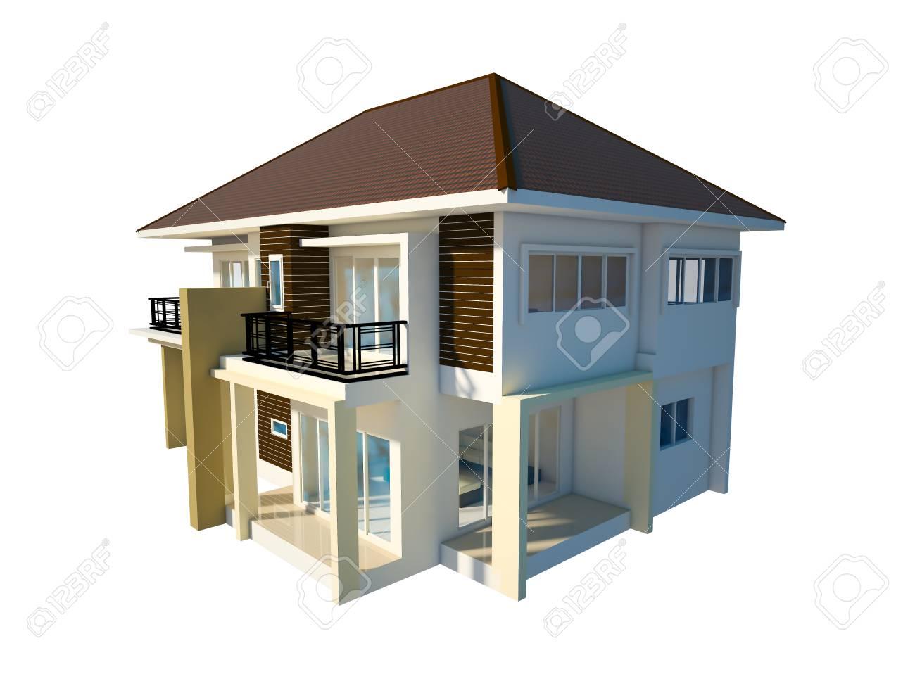 house isolated white background - 30187100