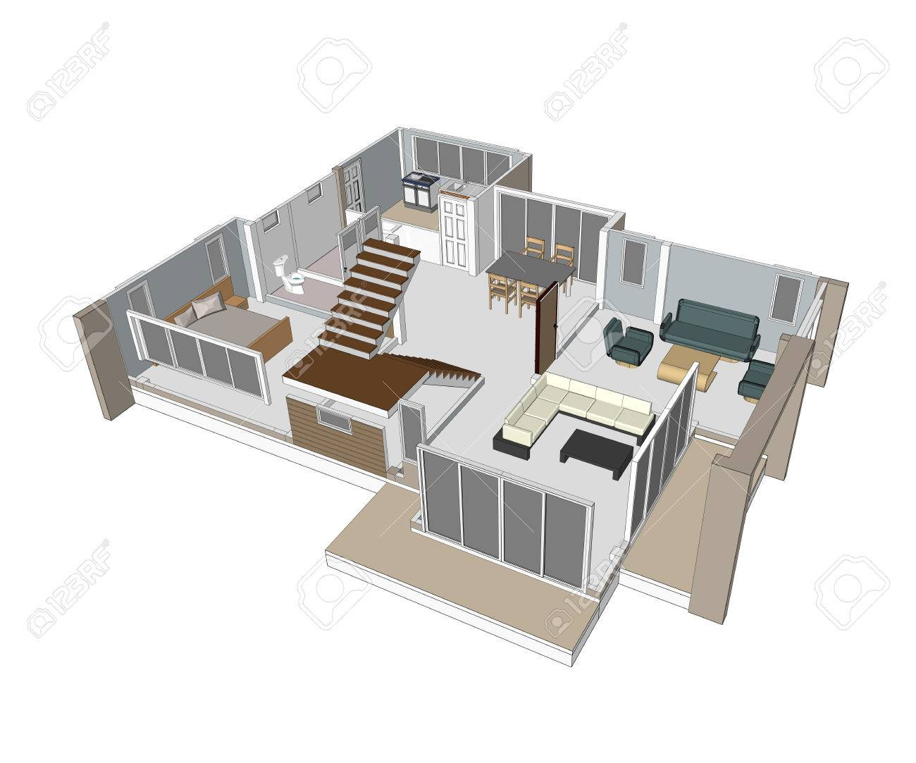 Drawings design houses - 41145169