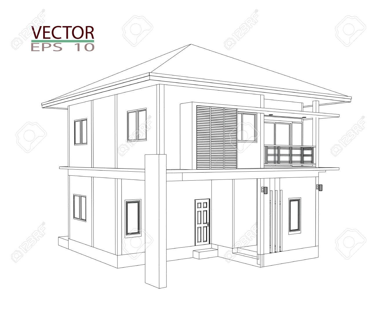3d Home Drawing Design Stock Photo Picture And Royalty Free Image
