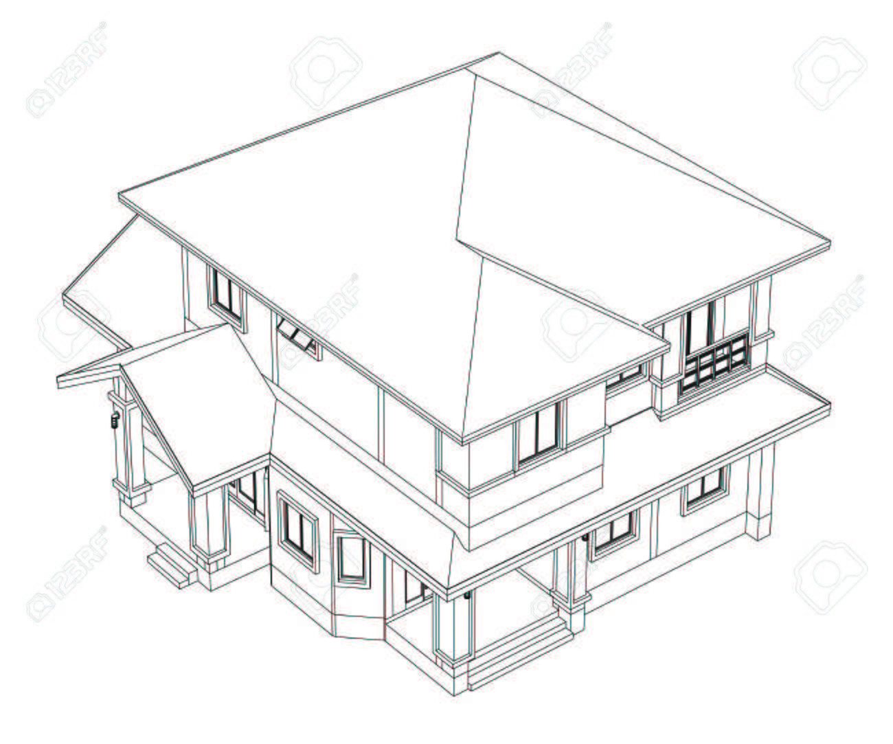 Colour Line Art Design : Drawings design house no colour stock photo picture and royalty
