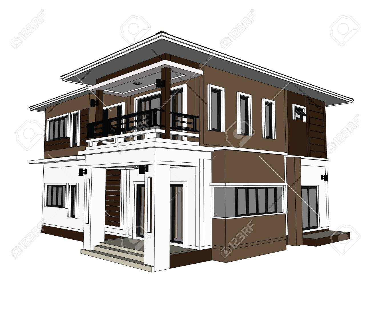Drawings 3d home design construction stock photo 59252746