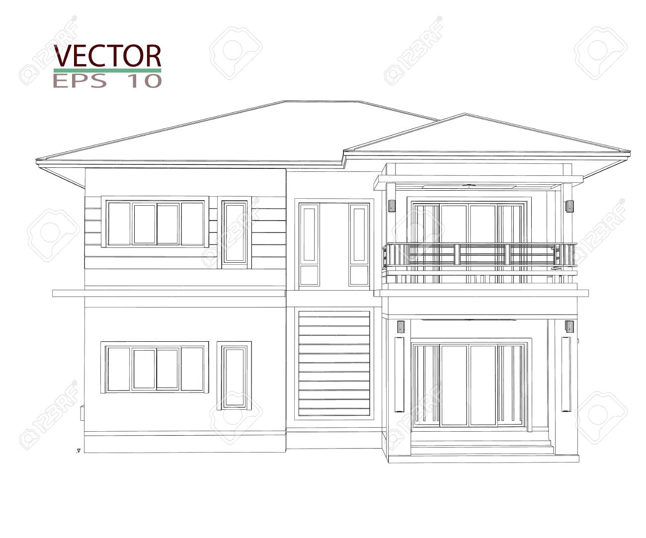 Drawings, 3D Home Design Construction Stock Photo, Picture And ...