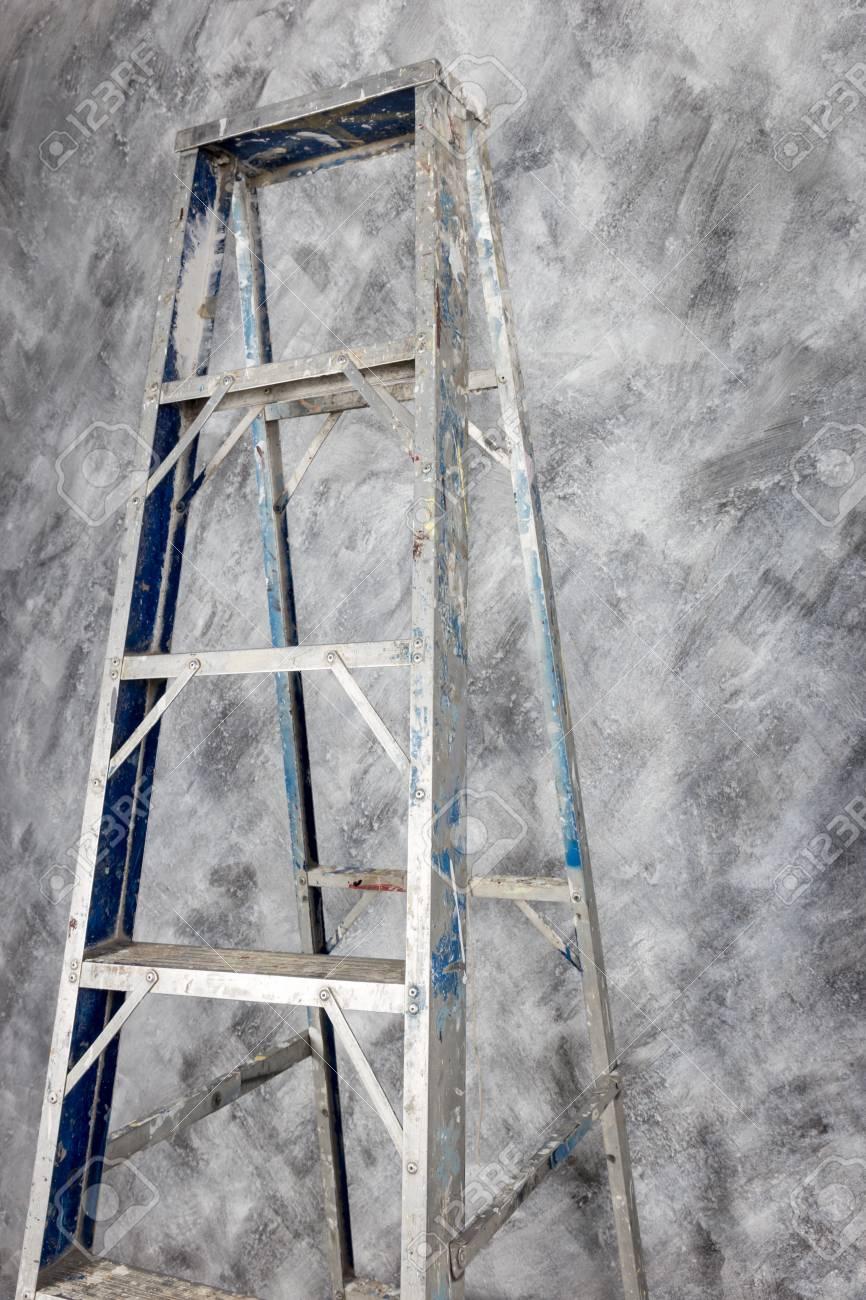 Aluminium Couleur Escalier De Fond De Peinture Style Loft Béton Sur Le Mur