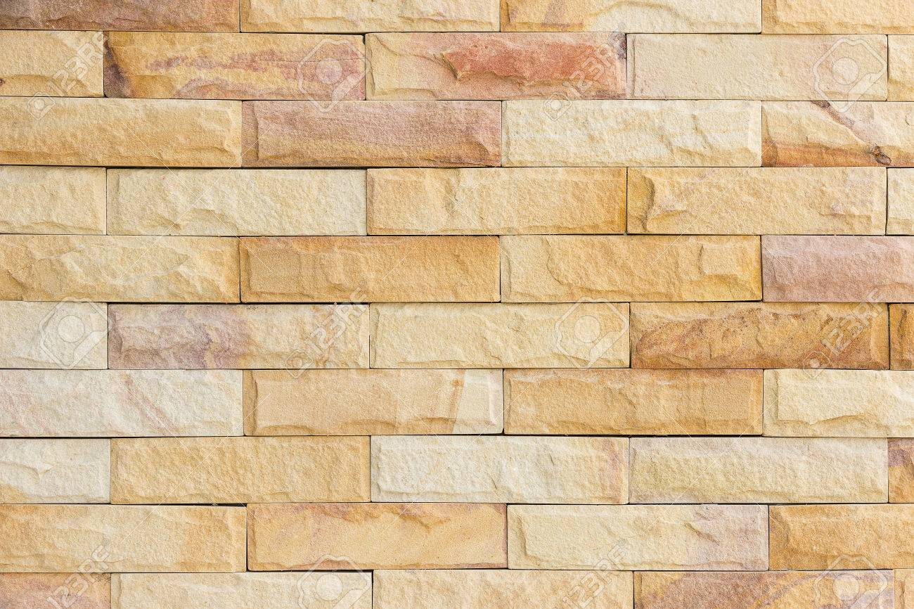 The Walls Are Decorated With Sandstone Material Brown Color Stock ...