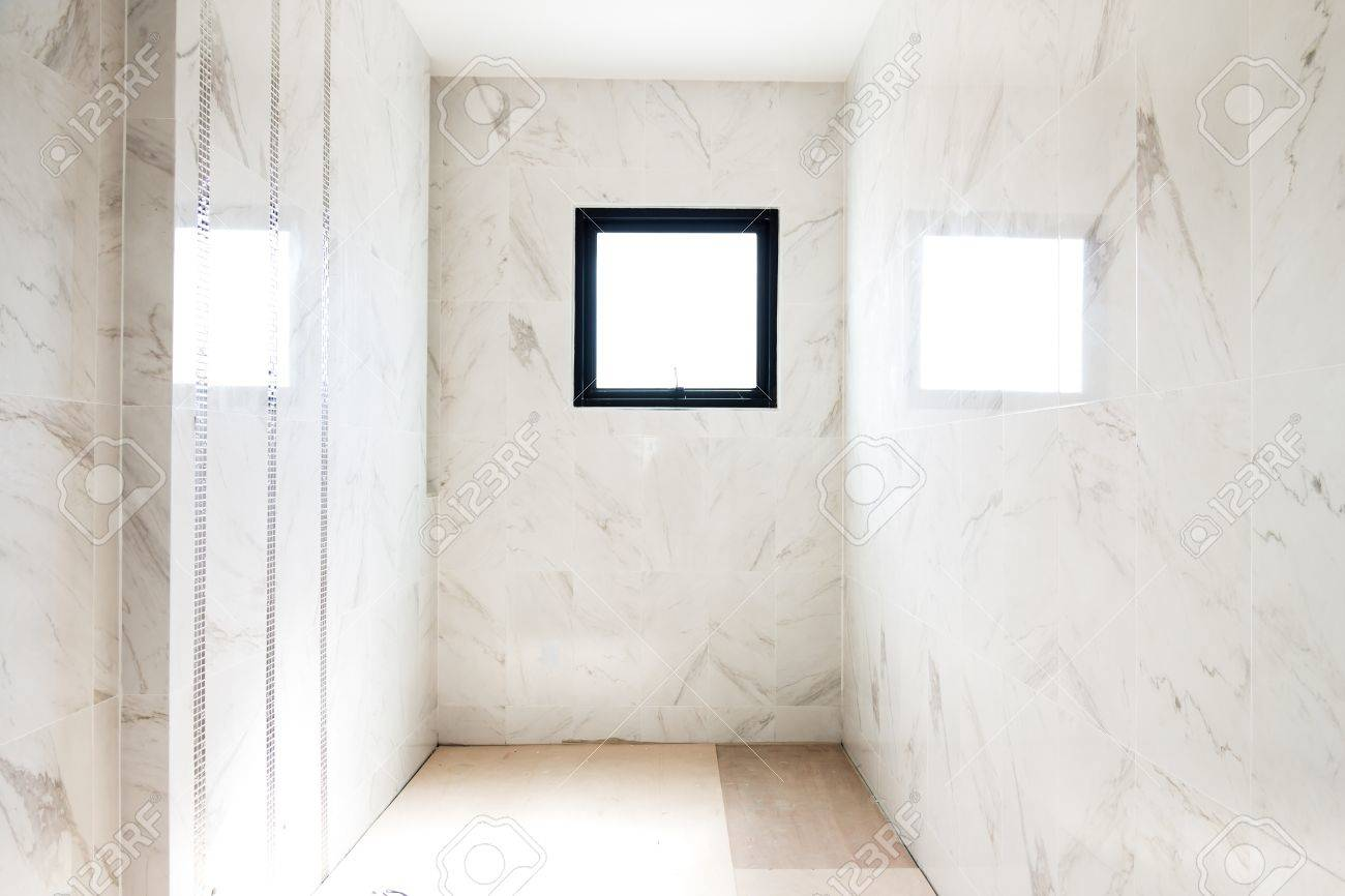 Empty room interior build wall gypsum board white colur and Air