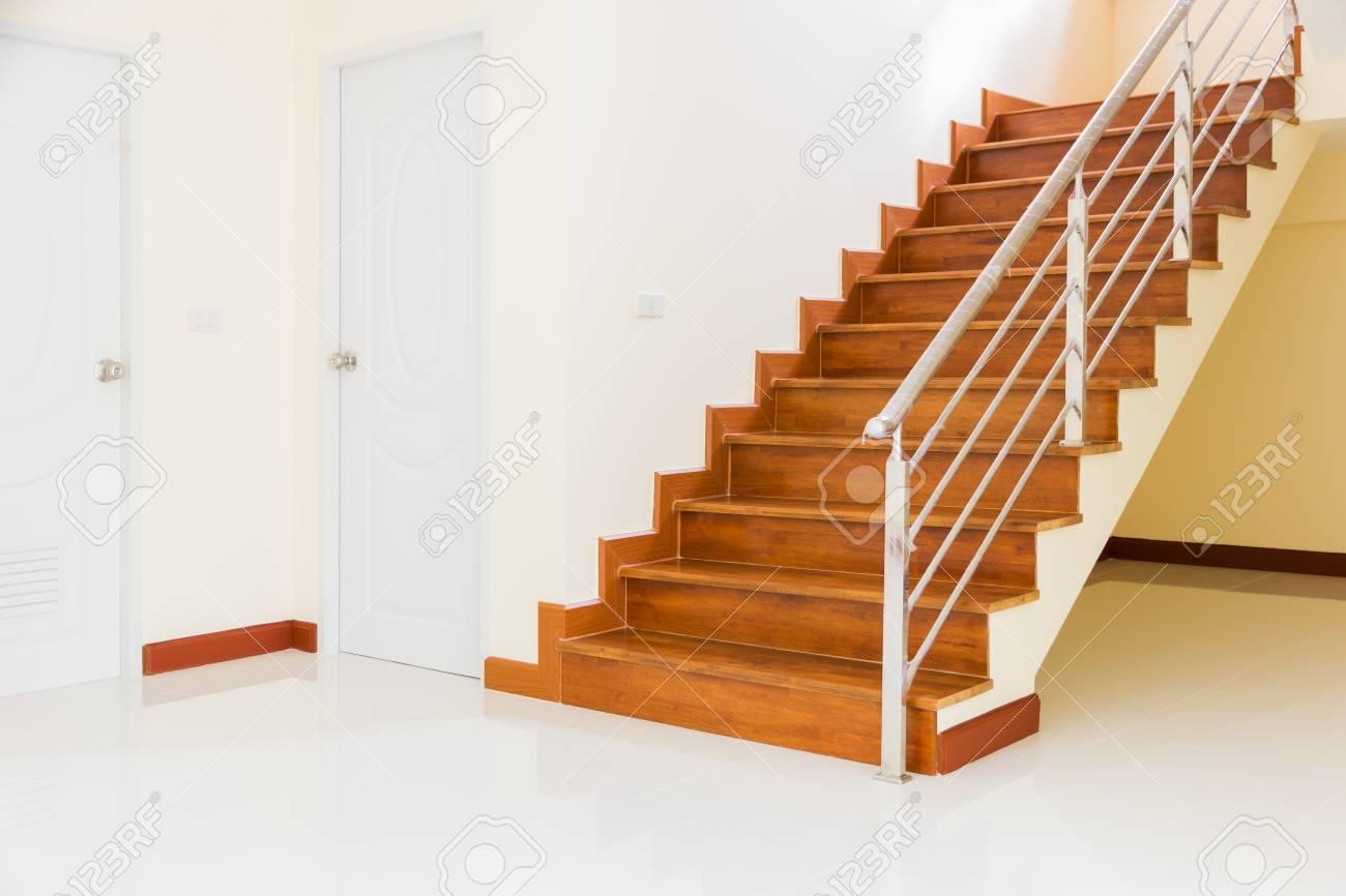 Home Building Interior Empty Room Design Staircase Concrete Top ...