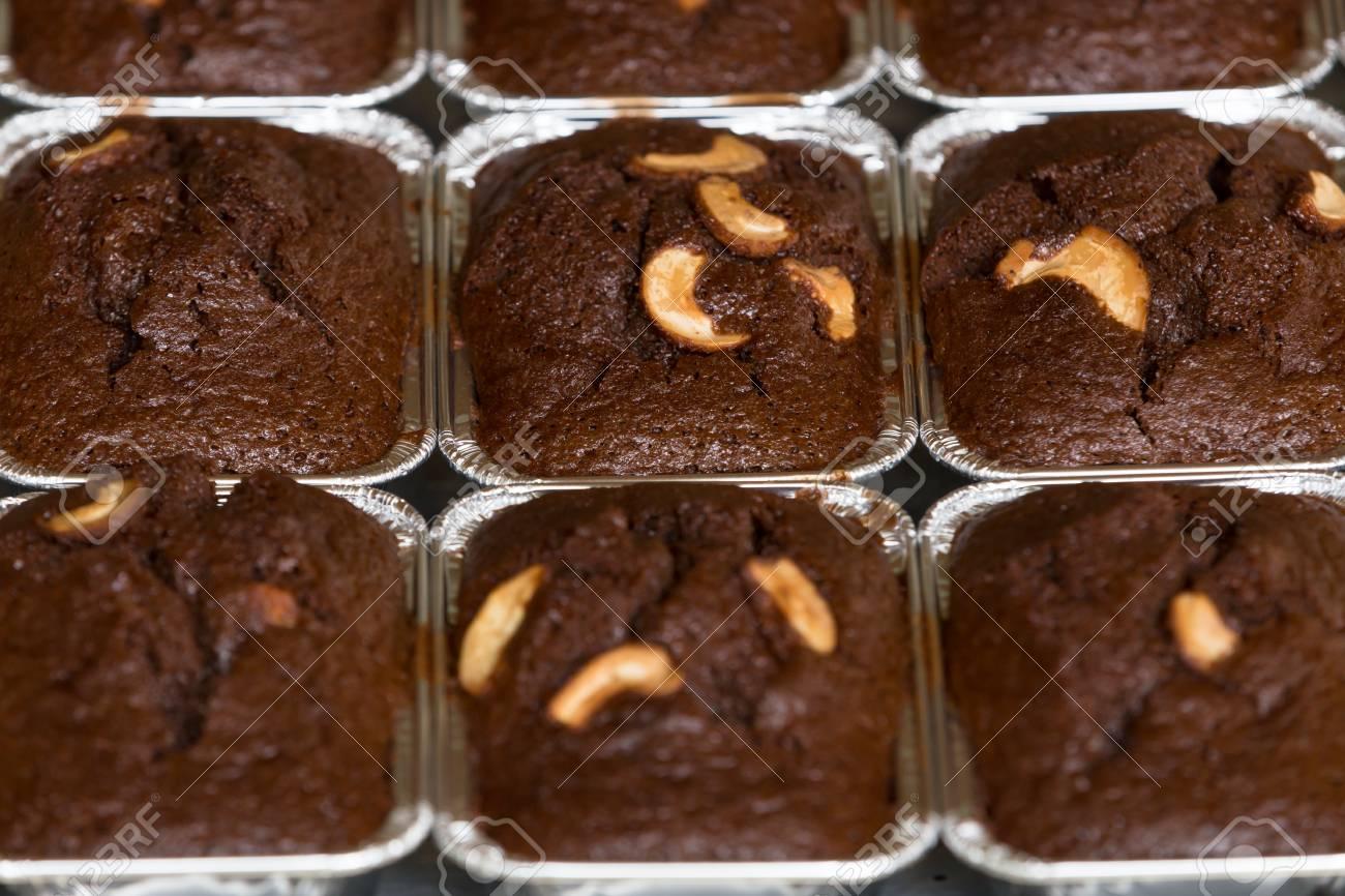 Thai Backereimethode Backen Schokoladen Brownie Kuchen In Der Pfanne