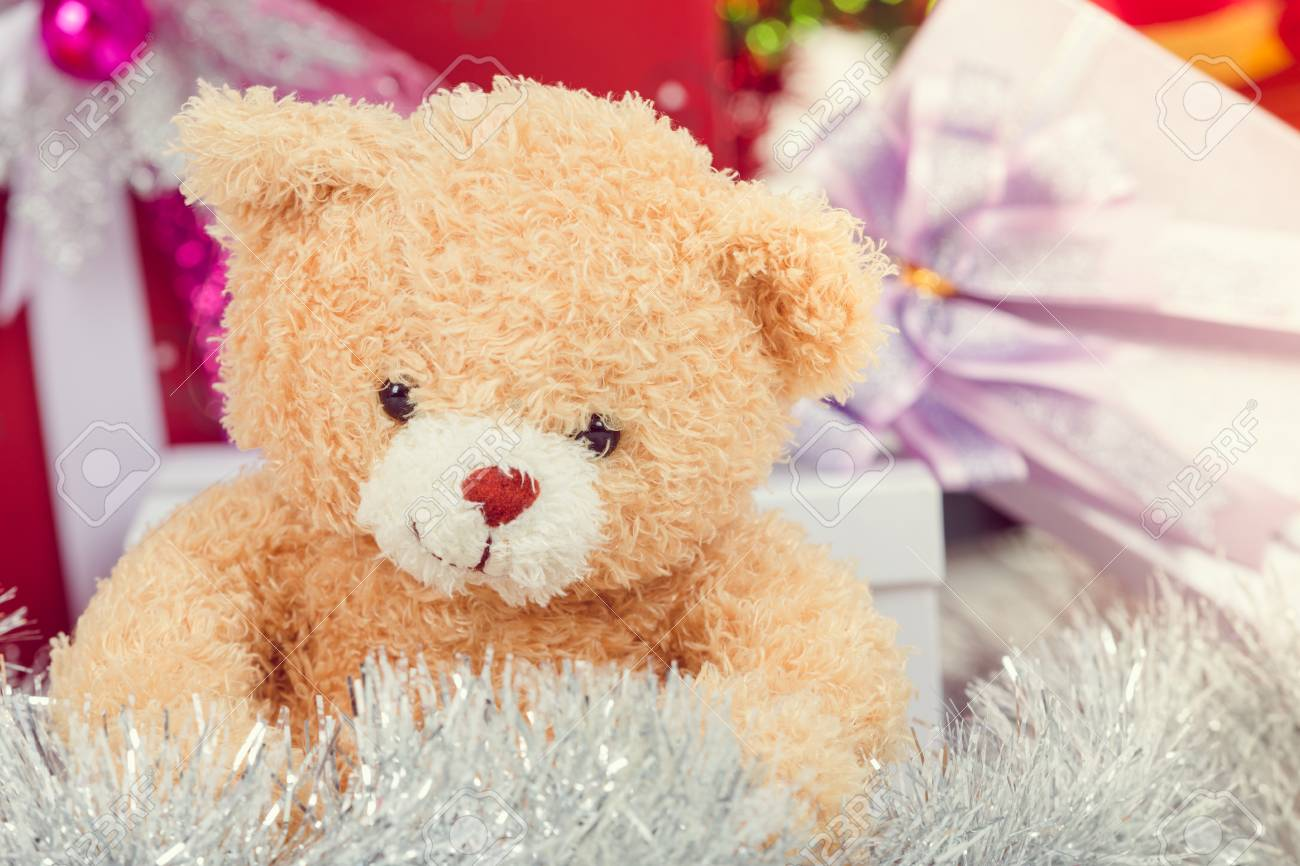 Teddy Weihnachten.Stock Photo