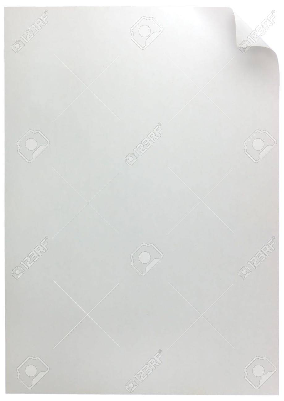 White Page Curl, isolated Stock Photo - 5512626