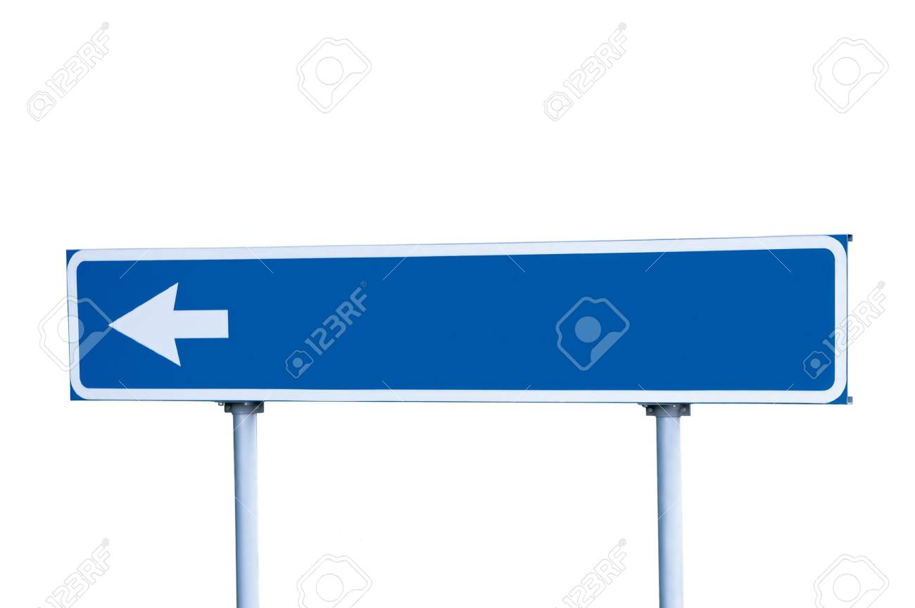 Blue Road Sign, Isolated on White Stock Photo - 5599278