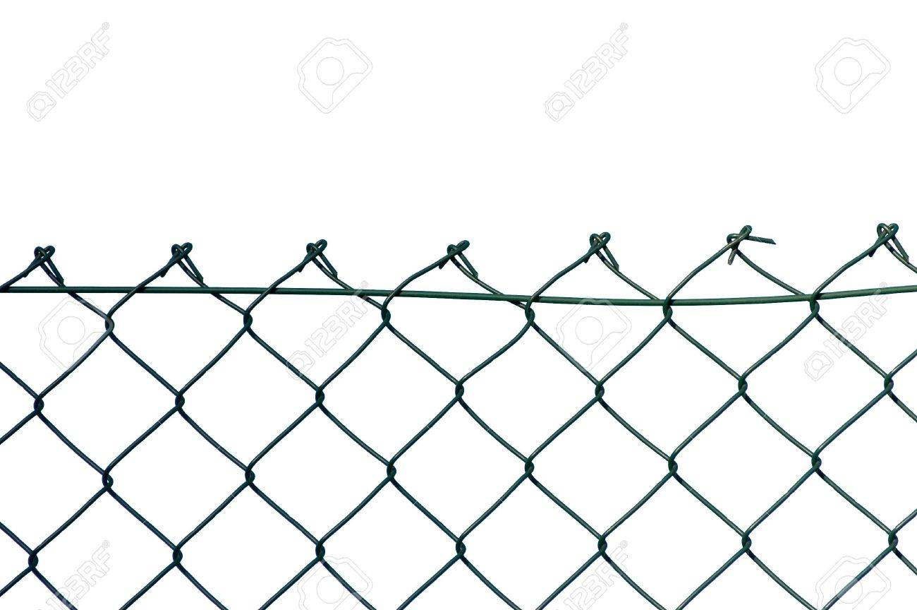New Wire Security Fence, Isolated Stock Photo, Picture And Royalty ...