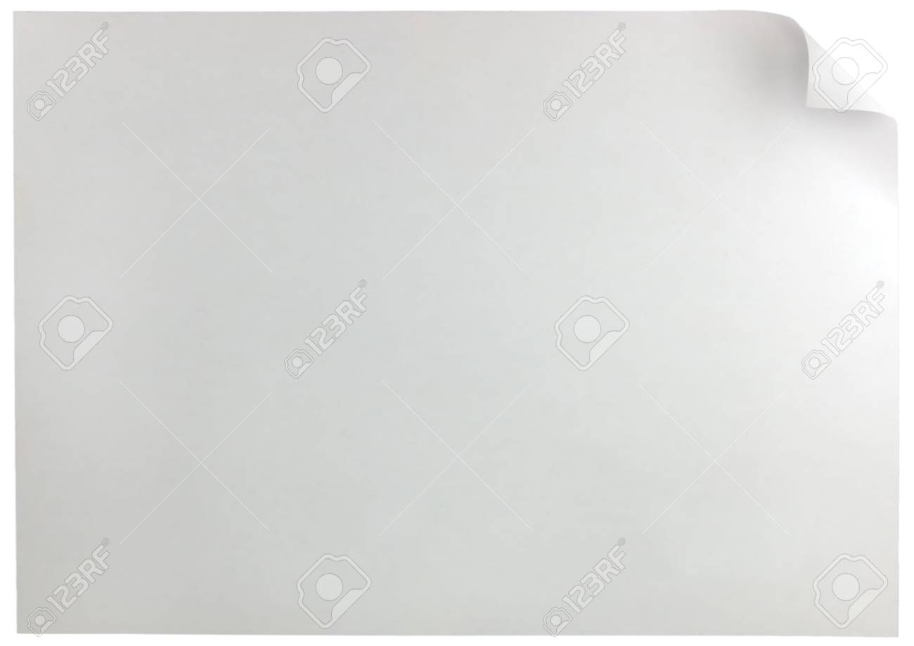White Page Curl, isolated Stock Photo - 6038855
