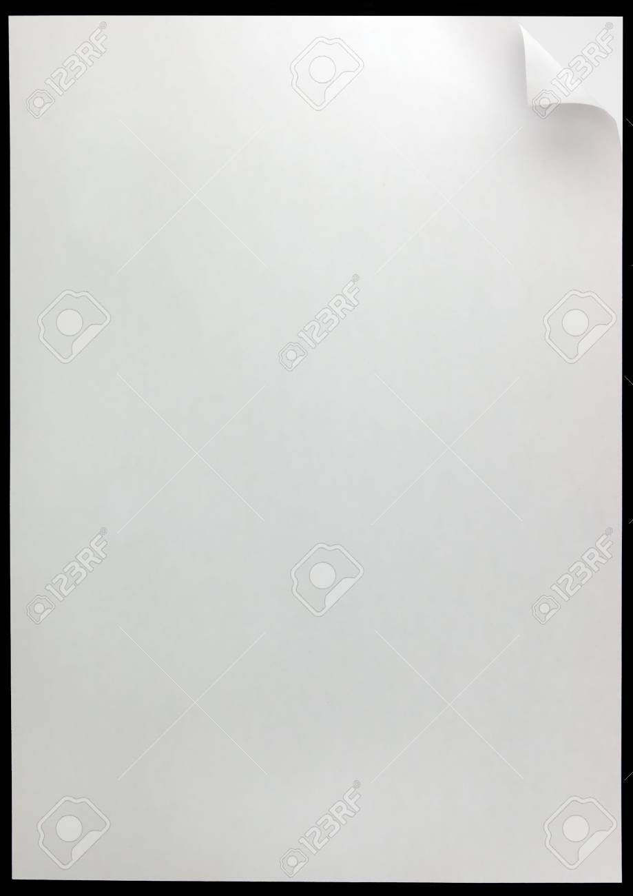 White Page Curl Background, isolated on black Stock Photo - 6345069