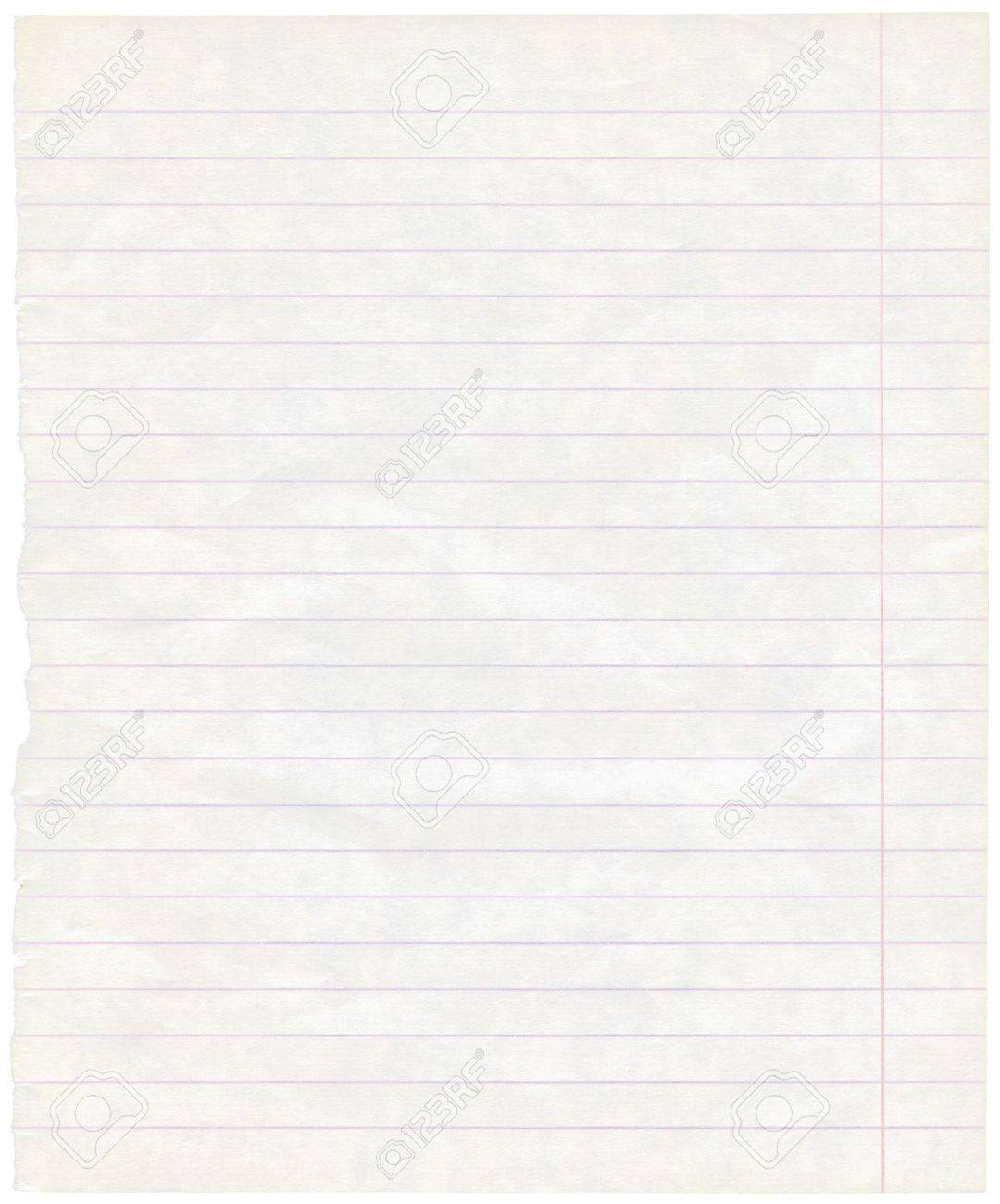 Single lined paper