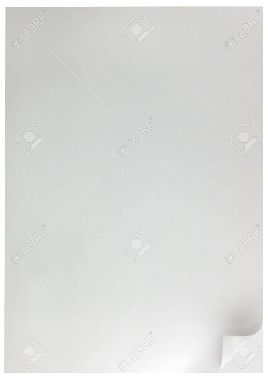 White Page Curl Background, isolated on white Stock Photo - 6661666
