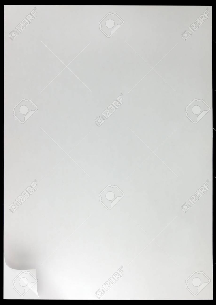 White Page Curl Background, isolated on black Stock Photo - 6809767
