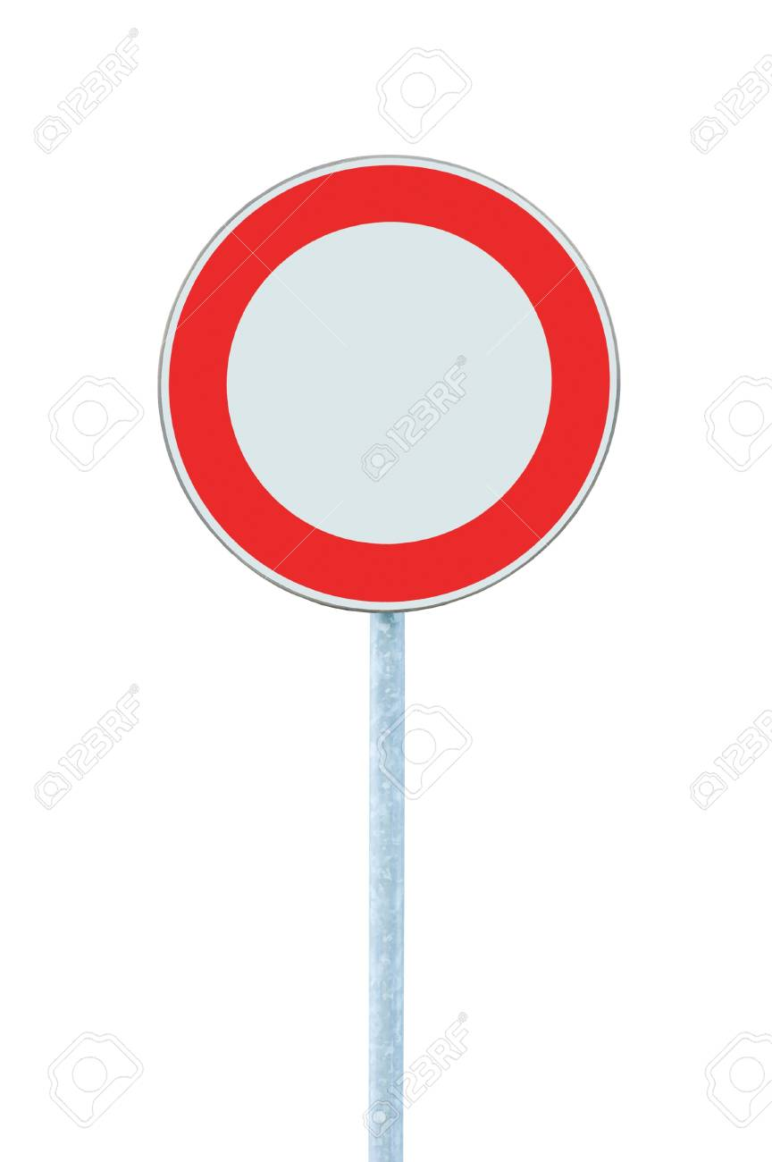 European Union No Vehicles Warning Sign, Isolated Stock Photo - 8497169