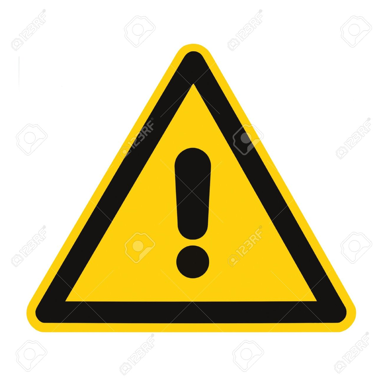 other danger and hazard sign isolated black general warning