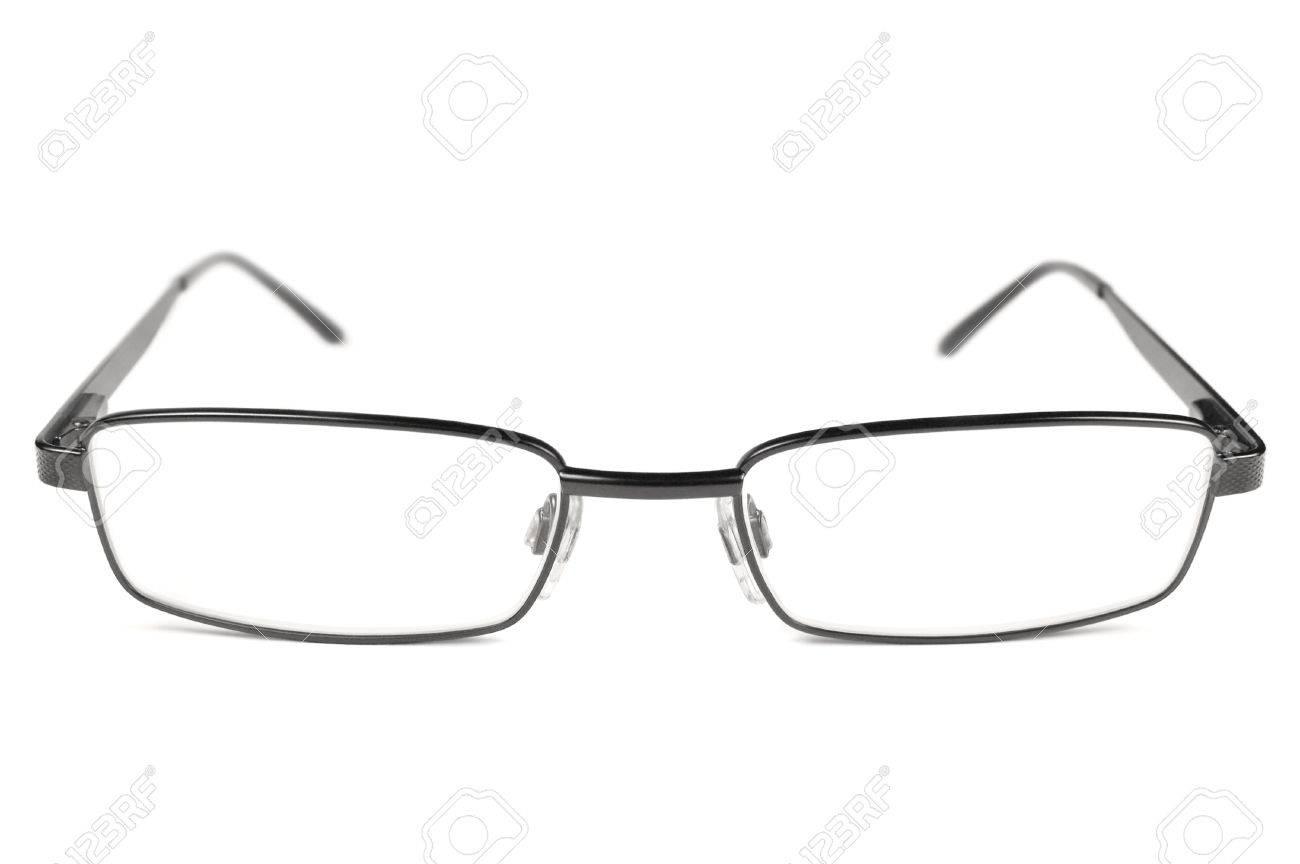 Brillen, Schwarze Männer Brillen, Titan Frame Isoliert Makro Closeup ...