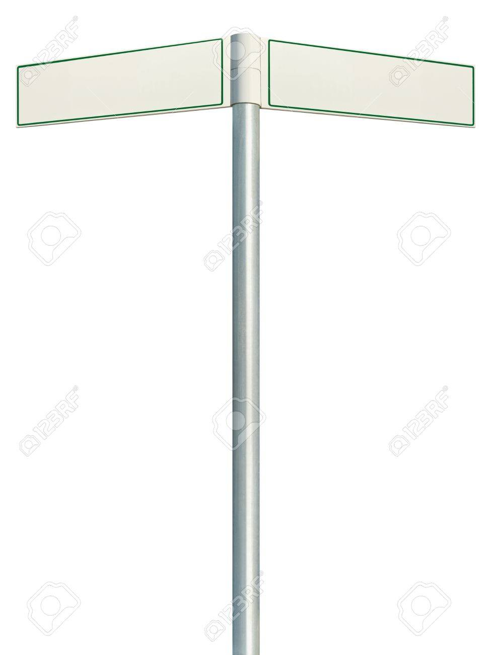 direction road signs two empty blank signpost signages isolated