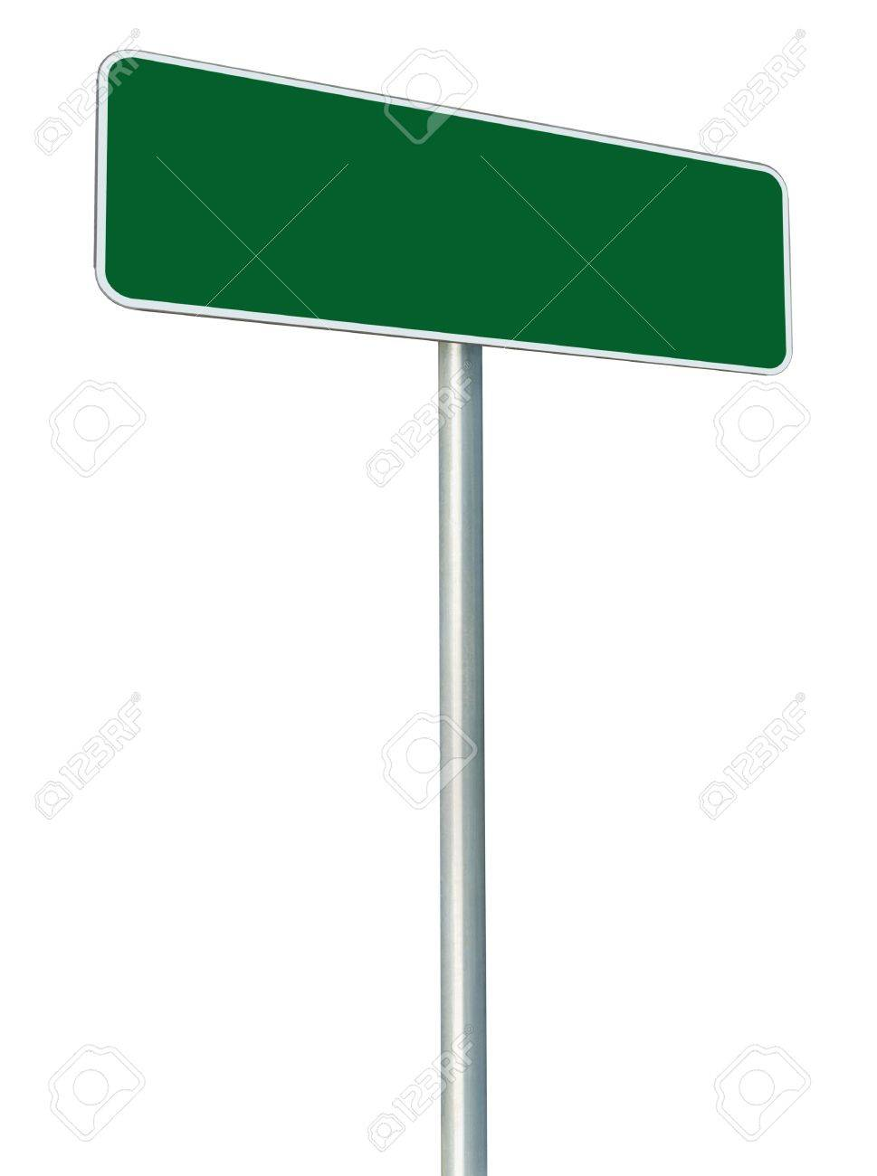 Blank Road Sign Board Blank Green Road Sign Isolated