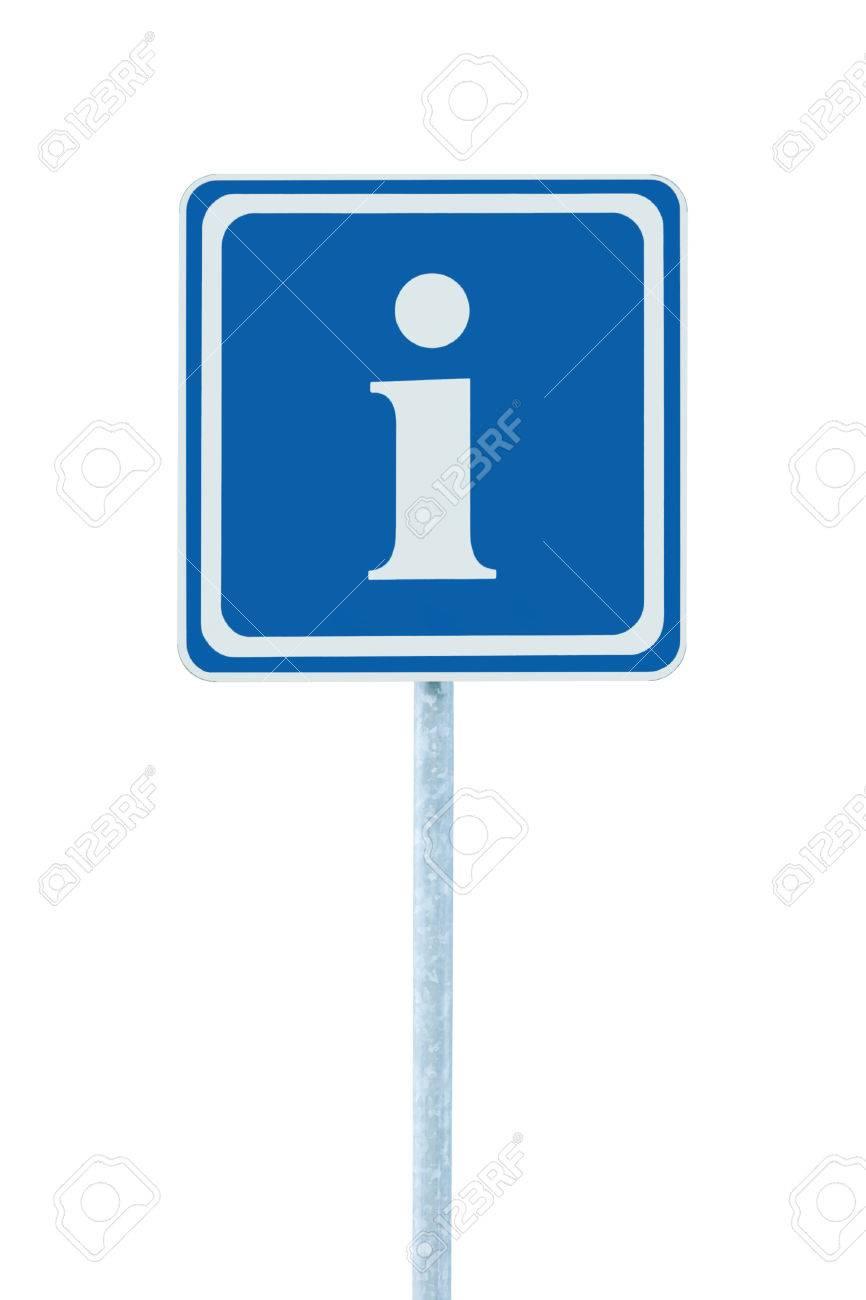 Info Signo En Azul, Blanco Icono Letra I Y De Cuadros, Aislado En ...