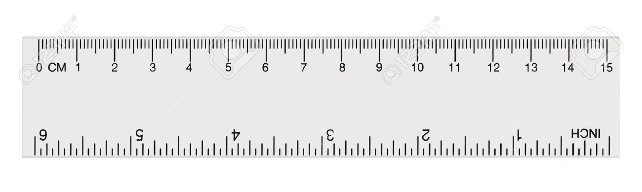 White Transparent Ruler, Isolated Inch And Centimetre, Inches, Centimeters,  Centimetres, Millimeters