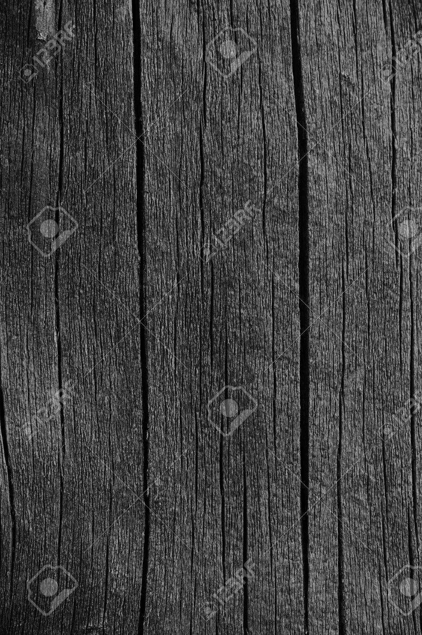 Wooden Plank Board Grey Black Wood Tar Paint Texture Detail Stock