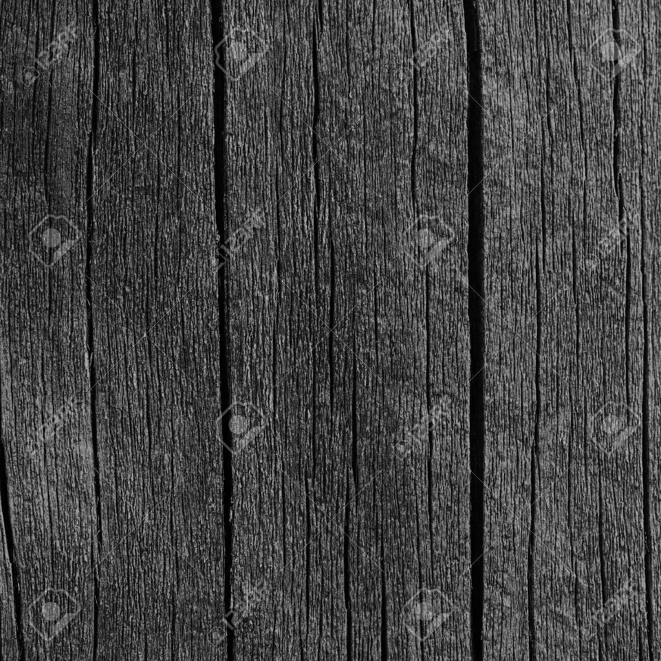 Wooden Plank Board Grey Black Wood Tar Paint Texture Detail Stock