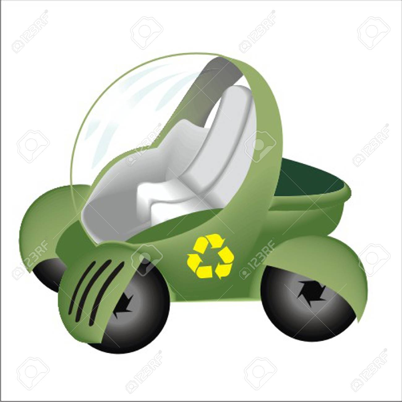 ecology car Stock Vector - 13058278