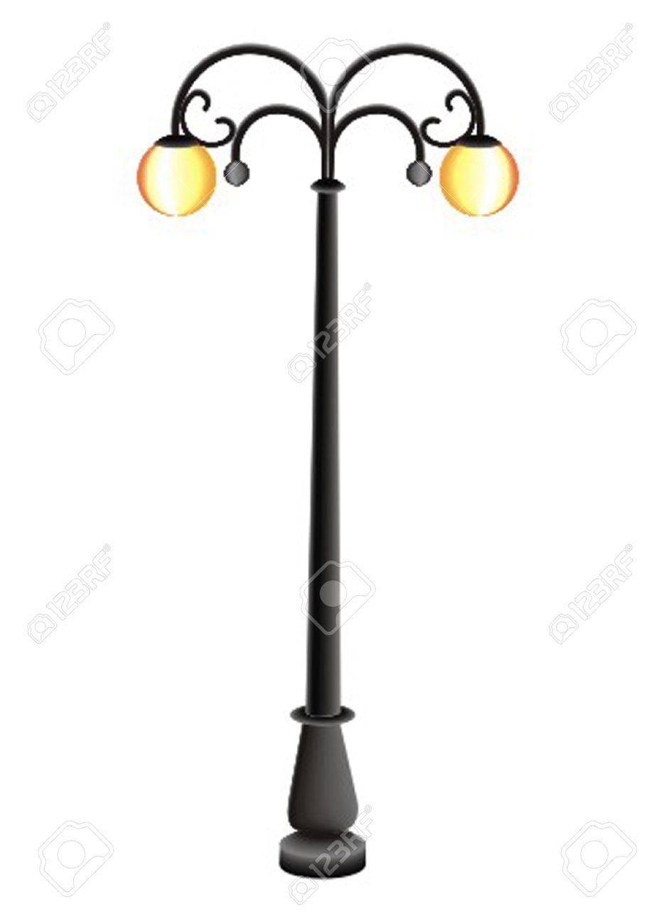 pillar with a lamp - 13330229