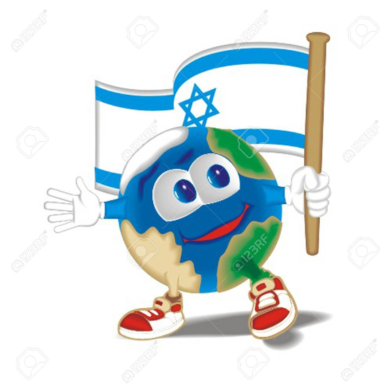 Planet_with_flag_Israil Stock Vector - 13438371