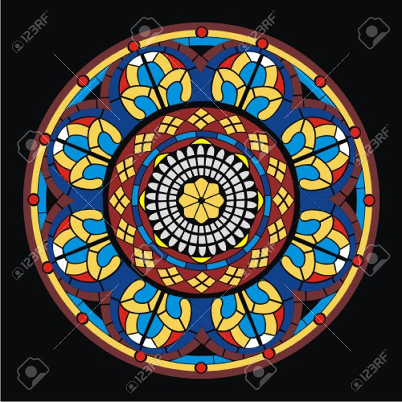 stained_glass_window Stock Vector - 13438185